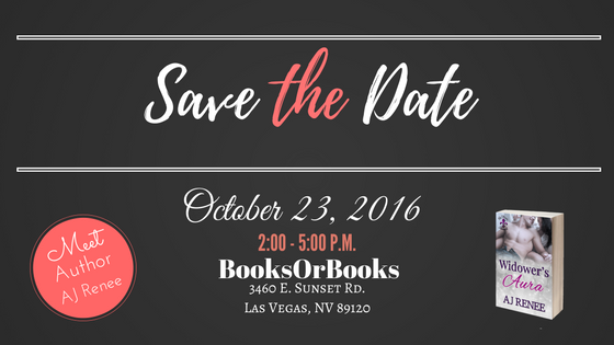 Widower's Aura book signing Las Vegas BooksOrBooks