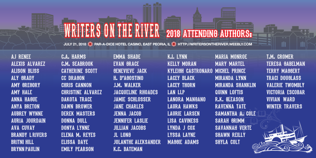 #WOTR18 Writers on the River 2018 Book Signing