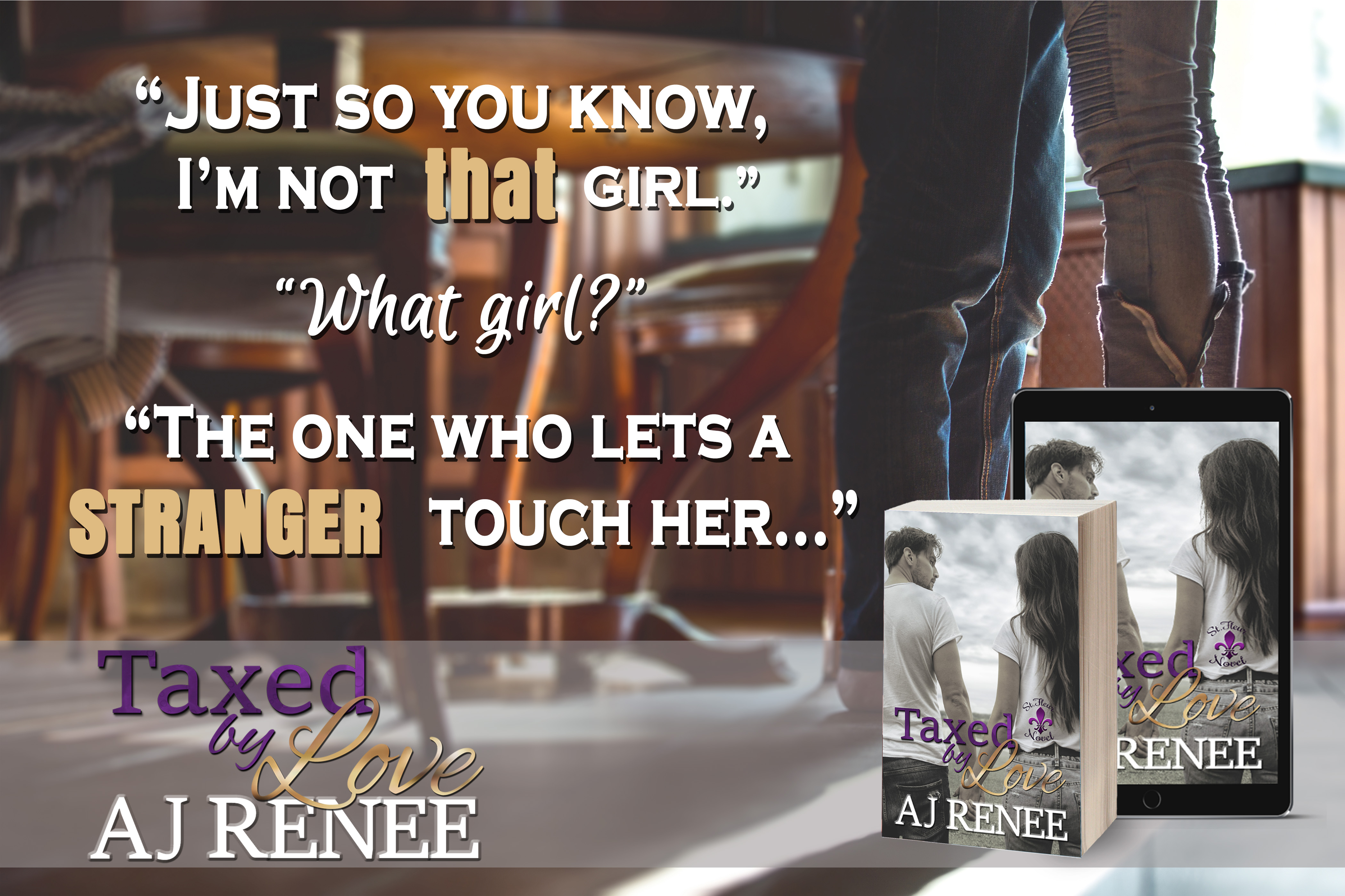 AJ Renee #TeaserTuesday #romance Taxed by Love